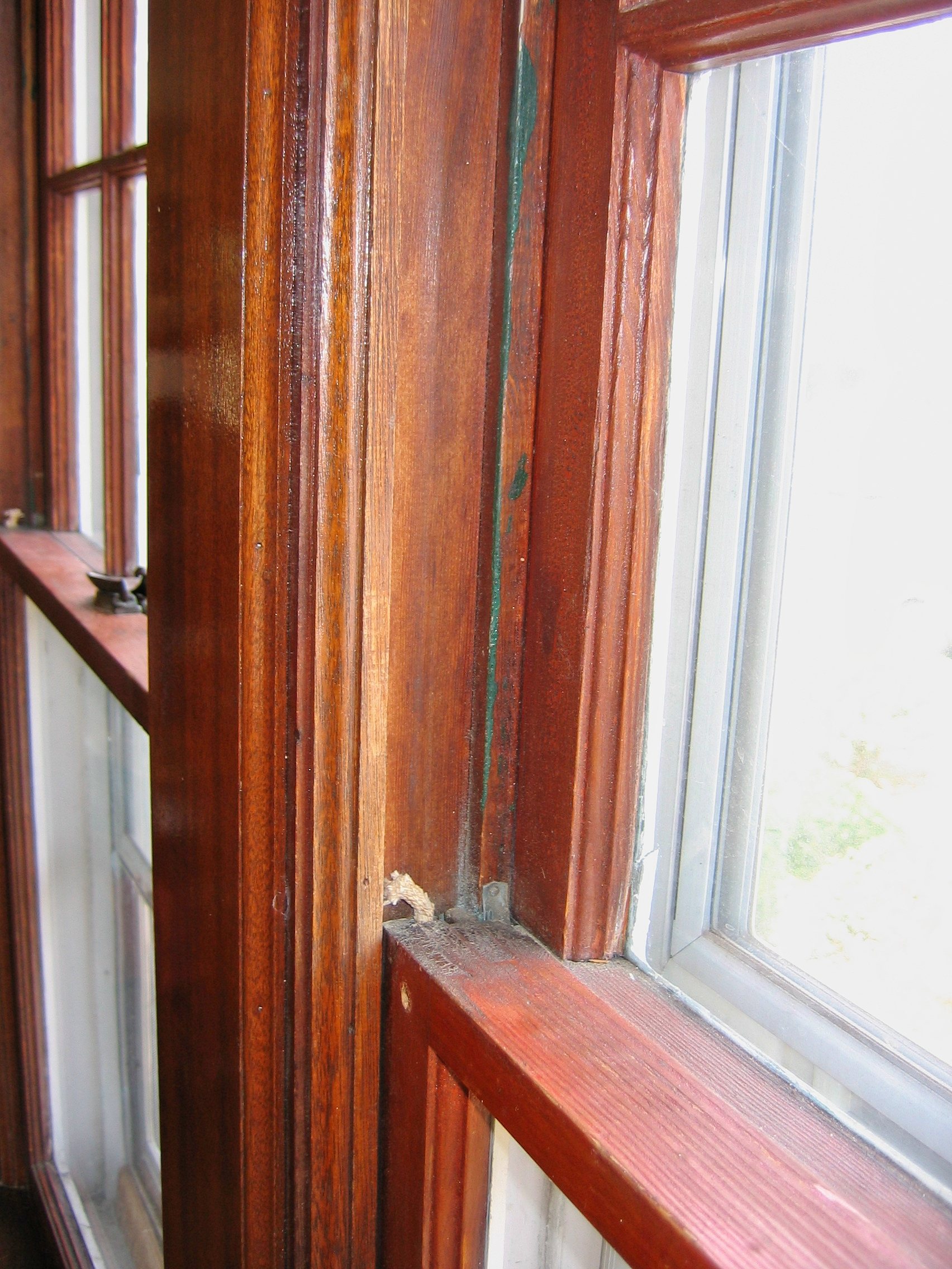 Before. Broken sash cords are one of the most common client concerns.